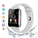 SUNETLINK Smart Watches, Anti-Lost Touch Screen Bluetooth Smart Watch Camera,Cell Phone Watch Sim Card Slot,Smart Wrist Watch Compatible Android Phones iOS Kids Men Women (Color: White, Tamaño: X1)