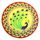 Diwali Special Rangoli Small Sparkle Sticker (Pack of 4)