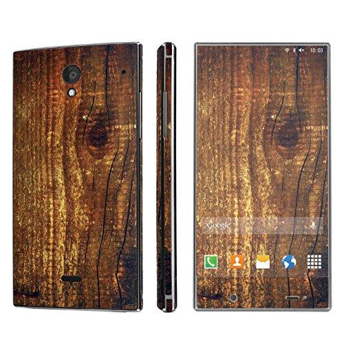NakedSkin Sharp AQUOS Crystal (Wood Print) Designer Vinyl Decal Sticker Wrap (Sharp Aquos Crystal Wood compare prices)