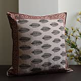 Block Print Cotton Cushion Cover(Set Of 5) - B00UIT6ENU
