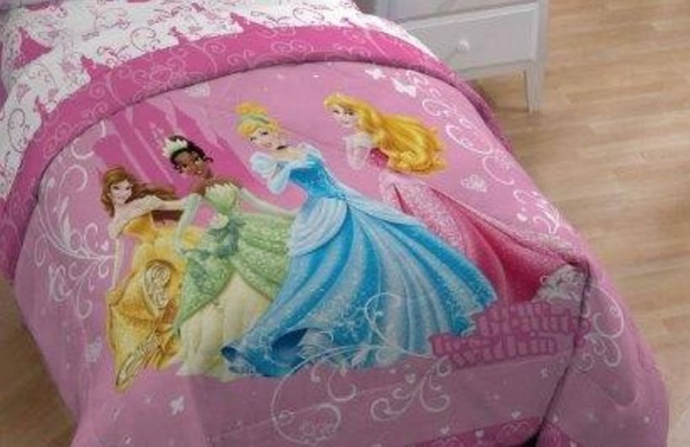 Princess Tiana Bedding Disney Princess Quilt Comforter Set Cinderella Tiana Queen ...
