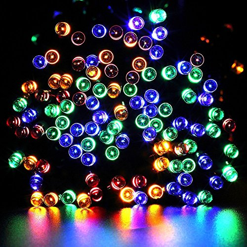 solar outdoor string lights esavebulbs waterproof starry fairy led string lights 56foot 17meters. Black Bedroom Furniture Sets. Home Design Ideas