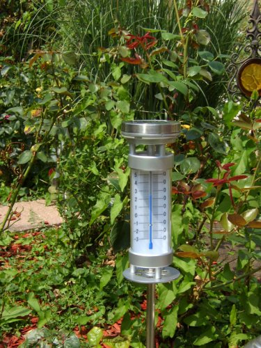 Süd Solar 03842 Stab-Thermometer Lily mit Solarleuchte