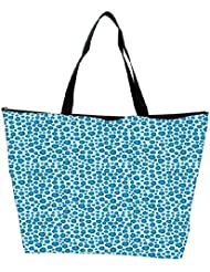 Snoogg Abstract Blue Pattern Design Designer Waterproof Bag Made Of High Strength Nylon - B01I1KMAVC