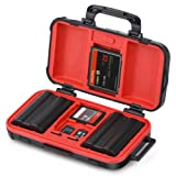 Camera Battery and Memory Card Storage Case, SD CF Memory Cards Holder Case, Waterproof & Shockproof Plastic Tank Organizer for Nikon, Canon Camera Batteries, Good for Outdoor Travel Use (Color: Battery and Memory Cards Case, Tamaño: Memory Card and Battery Case)