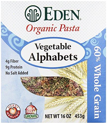 Eden Organic Pasta, Vegetable Alphabets, 16 oz (Organic Pasta For Kids compare prices)