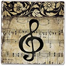 CounterArt Music Staff Tumbled Tile Coasters Set of 4