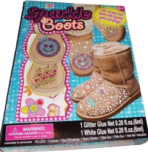 Creative Kids Tween Sparkle Boots Kids Craft Kit - 1