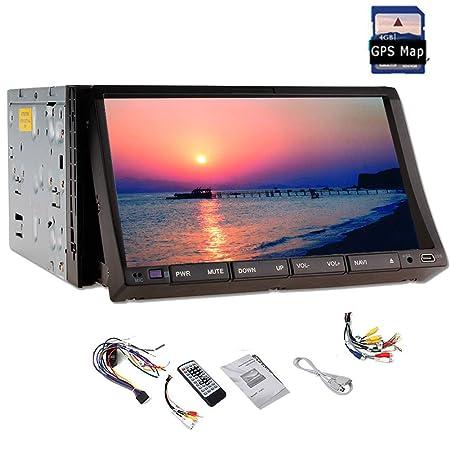 Pupug 7 pouces Android 4.2 Lecteur DVD de voiture Navigation GPS Headunit 2 voitures DIN radio stšŠršŠo au tableau de bord Bluetooth USB / SD Universal Video Player
