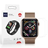 [3 Pack] Soon Screen Protector Compatible 44mm Apple Watch 4 Series Max Coverage Bubble-Free Anti-Scratch HD Clear Flexible TPU Film (Tamaño: 44MM)