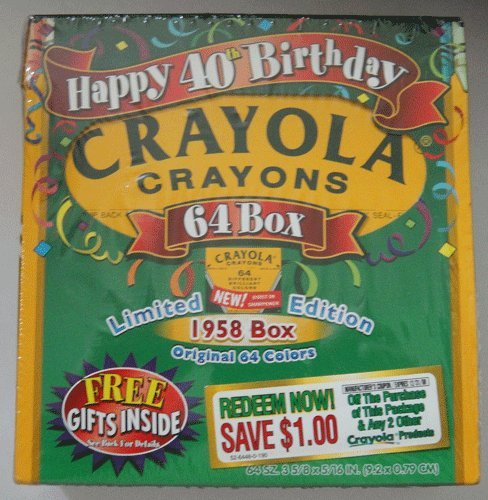 Crayola Crayons Happy 40th Birthday Limited Edition 64