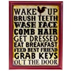 Wake Up Wall Plaque