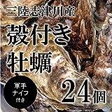 殻付き牡蠣 生牡蠣 生食用カキ | 三陸産 | 大サイズ 24個 築地直送 かき【赤崎牡蠣30x24個】