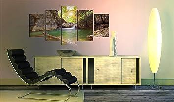 impression sur toile toile 100x50 cm 5 parties image sur sur toile images photo. Black Bedroom Furniture Sets. Home Design Ideas
