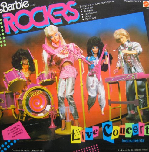 Barbie and The Rockers Live Concert Instruments Set - Everything For a Rockin' Show! (1986 Mattel Hawthorne)