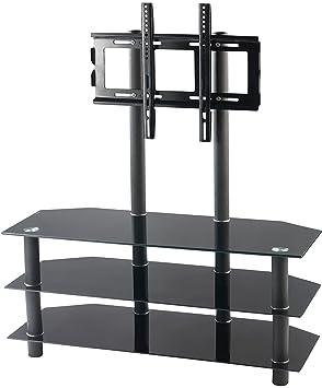 """'Carlo Milano HIFI di rack con supporto di TV: TV del rack per TV a schermo piatto da 32""""–52, max. 50kg di 1(TV Phono tavolo Mobiletto Porta)"""