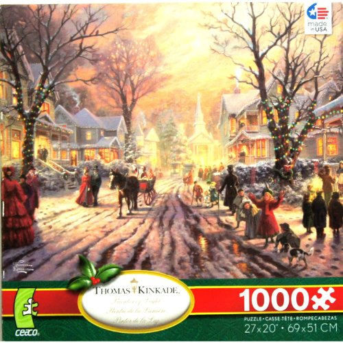 THOMAS KINKADE Painter of Light A Victorian Christmas Carol 1000 Piece Jigsaw Puzzle MADE IN USA