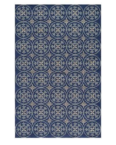 Momeni Veranda Indoor/Outdoor Geometric Rug, Blue, 5' x 8'