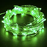 100 LEDs 33ft 10m Halloween Decorative lights String, CrazyFire Green Copper Wire String Light with USB Interface for Festival Christmas Wedding Halloween Patio Party Home Decorations