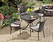 Big Sale Home Styles 5601-3080 Stone Harbor 5-Piece Outdoor Dining Set, Slate Finish