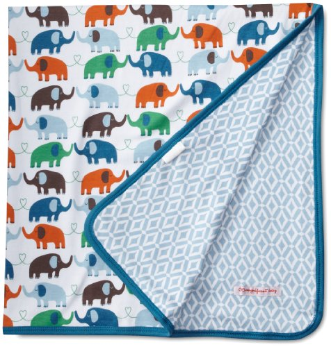 Magnificent Baby Baby-Boys Newborn Reversible Blanket, Elephant/Marrakesh, One Size