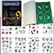 Master Airbrush Brand Airbrush Tattoo Stencils Set Book #9 Reuseable Tattoo Template Set, Book Contains 100 Unique Stencil Designs, All Patterns Come on High Quality Vinyl Sheets with a Self Adhesive Backing.