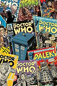 Amazon.com: Doctor Who - TV Show Poster (Dr. Who Comics Covers Collage