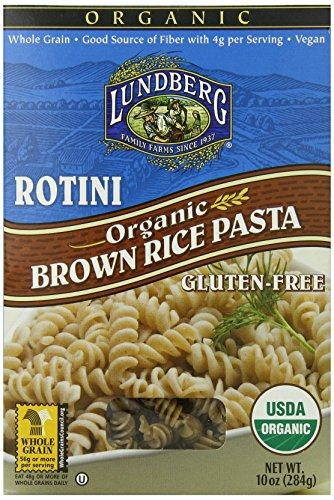 Lundberg Organic Brown Rice Pasta, Rotini, 10 Ounce (Pack of 12) (Rice Pasta Organic compare prices)