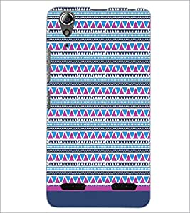 PrintDhaba Tribal pattern D-1756 Back Case Cover for LENOVO A6000 (Multi-Coloured)