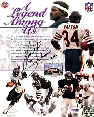"Walter Payton Autographed 8x10 Photo Chicago Bears ""sweetness"" Psa/dna Stock #19781"