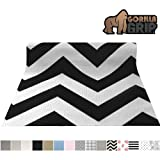 Gorilla Grip Original Smooth Top Slip-Resistant Drawer and Shelf Liner, Non Adhesive Roll, 20 Inch x 20 FT, Durable Kitchen Cabinet Shelves Liners for Kitchens Drawers and Desks, Chevron Black White (Color: Chevron: Black/White, Tamaño: 20