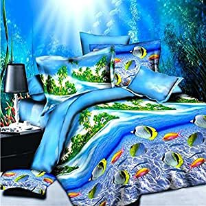 3d underwater world bedding sets tropical fish bedding queen size