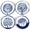 Box Set of 4 Plates from Rob Ryan Collection by Wild & Wolf