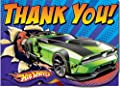 """HOT Wheels Speed City Thank YOU Cards 4"""" X 5"""" (Pack of 8)"""