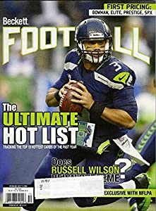 Beckett Football Monthly Price Guide Magazine October 2014 Issue with 168 Pages ! Features Russel Wilson Cover !