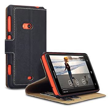 Étui   Housse en Cuir Ultra-mince Avec La Fonction Stand pour Nokia Lumia  625 - Noir - nzntkfhz-78 c14203eaf92