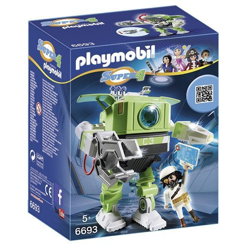PLAYMOBIL Super 4 Cleano Robot Building Kit (Playmobil Robot compare prices)