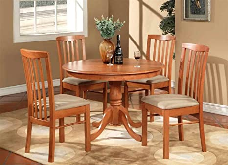 5-Pc Traditional Round Dining Set