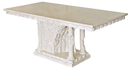 Table à manger Bellagio Mactan Pierre–Grande table de salle à manger pour 6à 8personnes