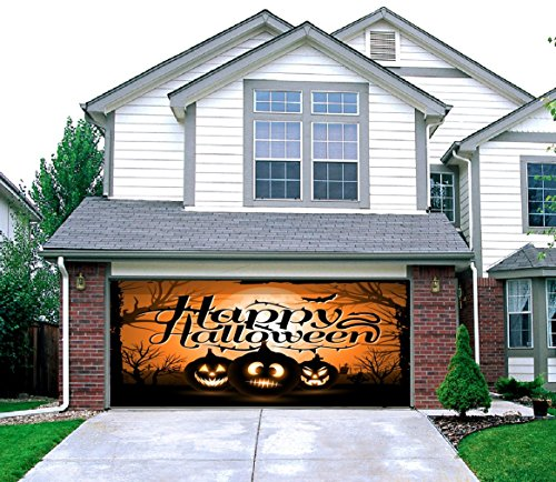 Night of the Jack-O'-Lantern - Outdoor Halloween Holiday Garage Door Décor 7'x16' -