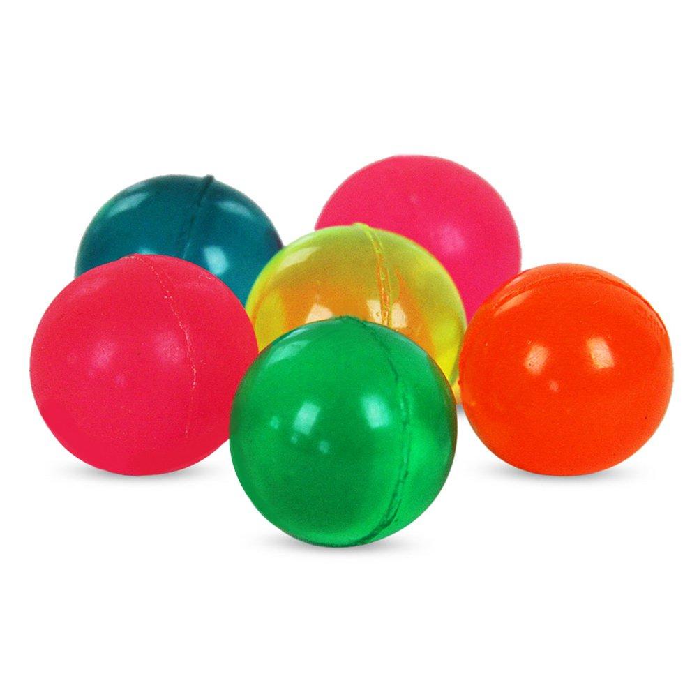 72 x 6er Set Flummis Flummi Flummiset Clearfully Ball Bunt Hüpfball im Netz – sortiert – 25 mm günstig kaufen