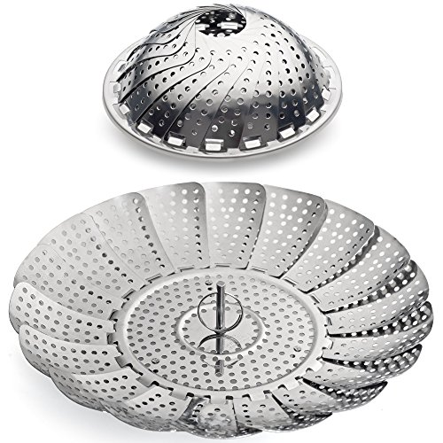 SMYLLS Collapsible Vegetable Steamer Stainless Steel Basket (M) (Oyster Electric Steamer compare prices)