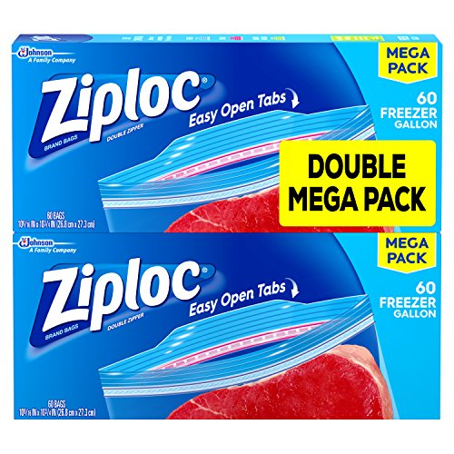 Ziploc Freezer Bags Gallon Mega Pack, 120 Count (Ziploc Gallon Bags Freezer compare prices)