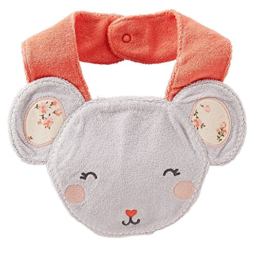 Carters Mouse Terry Teething Bib front-160113