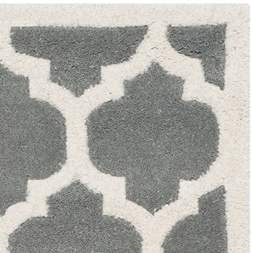 Safavieh Chatham Collection CHT734D Handmade Dark Grey and Ivory Wool Area Rug, 2 feet by 3 feet (2' x 3')