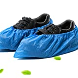 Home Series 100 Piece Disposable Shoe Covers, Blue
