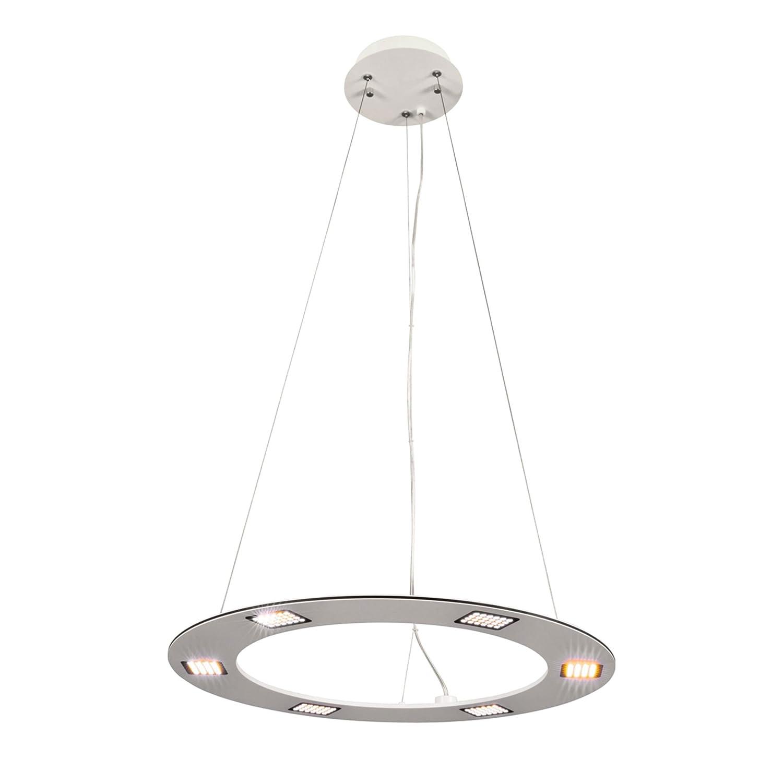 Heitronic LED Pendelleuchte Style, Aluminium mit weißem Strukturlack, höheneinstellbar bis 1500mm, 6 x 4,8 W, 1800 Lm, 144 SMD HEI-27755