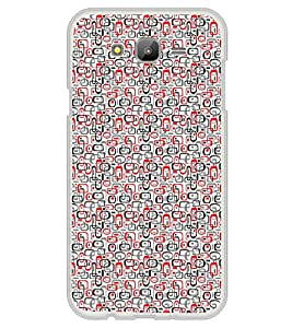 ifasho Modern Theme of colorful Squre inside square and dots Back Case Cover for Samsung Galaxy On 7