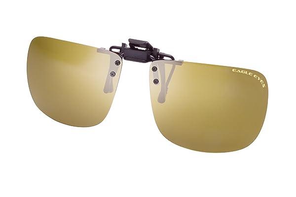 6a92a2686e Eagle Eyes Clip On Sunglasses - Universal Square Design Polarized Lenses