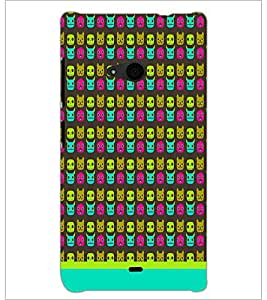 PrintDhaba Pattern D-1630 Back Case Cover for MICROSOFT LUMIA 535 (Multi-Coloured)